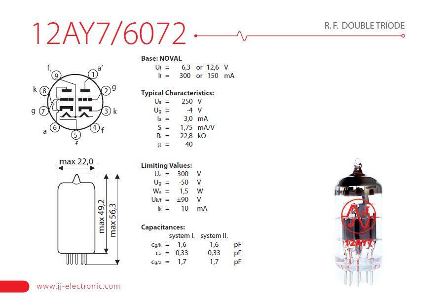 12at7 Datasheet Pdf Download